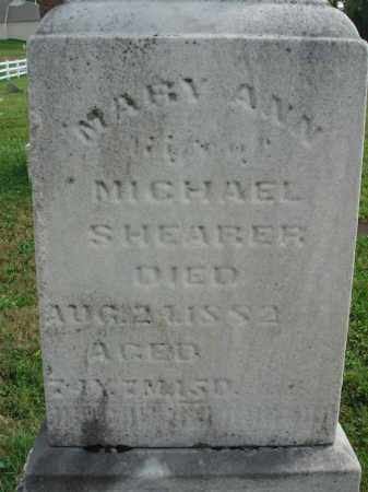SHEARER, MARY ANN - Fairfield County, Ohio | MARY ANN SHEARER - Ohio Gravestone Photos
