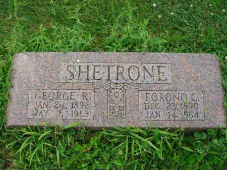SHETRONE, GEORGE R. - Fairfield County, Ohio | GEORGE R. SHETRONE - Ohio Gravestone Photos