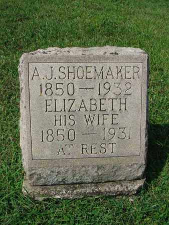 SHOEMAKER, A.J. - Fairfield County, Ohio | A.J. SHOEMAKER - Ohio Gravestone Photos