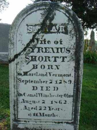SHORTT, SARAH - Fairfield County, Ohio | SARAH SHORTT - Ohio Gravestone Photos
