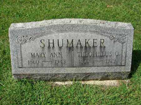 SHUMAKER, THEOPHILUS O. - Fairfield County, Ohio | THEOPHILUS O. SHUMAKER - Ohio Gravestone Photos