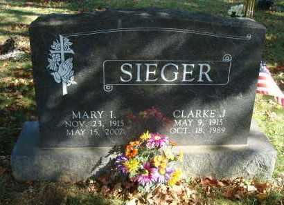 SIEGER, MARY IRENE - Fairfield County, Ohio | MARY IRENE SIEGER - Ohio Gravestone Photos