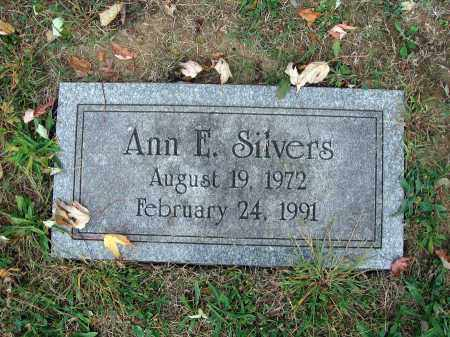 SILVERS, ANN E. - Fairfield County, Ohio | ANN E. SILVERS - Ohio Gravestone Photos
