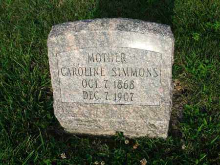 SIMMONS, CAROLINE - Fairfield County, Ohio | CAROLINE SIMMONS - Ohio Gravestone Photos