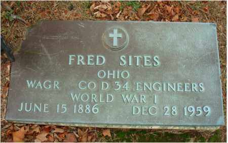 SITES, FRED - Fairfield County, Ohio | FRED SITES - Ohio Gravestone Photos