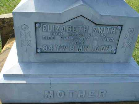 SMITH, ELIZABETH - Fairfield County, Ohio | ELIZABETH SMITH - Ohio Gravestone Photos