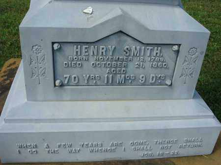 SMITH, HENRY - Fairfield County, Ohio | HENRY SMITH - Ohio Gravestone Photos