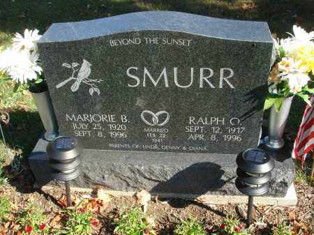 SMURR, MARJORIE B. - Fairfield County, Ohio | MARJORIE B. SMURR - Ohio Gravestone Photos