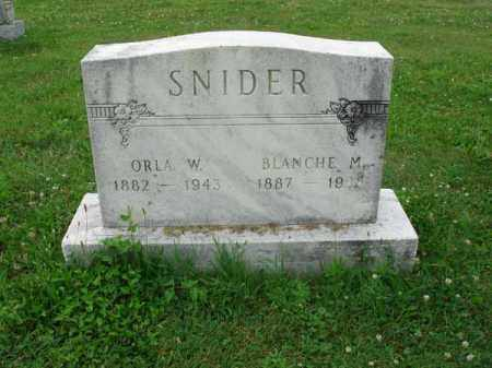 SNIDER, ORLA W. - Fairfield County, Ohio | ORLA W. SNIDER - Ohio Gravestone Photos