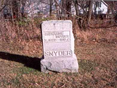 KELLENBERGER SNYDER, CATHARINE - Fairfield County, Ohio | CATHARINE KELLENBERGER SNYDER - Ohio Gravestone Photos