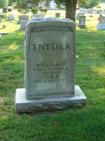 SNYDER, WILLIAM H. - Fairfield County, Ohio | WILLIAM H. SNYDER - Ohio Gravestone Photos