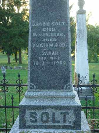 SOLT, SARAH - Fairfield County, Ohio | SARAH SOLT - Ohio Gravestone Photos