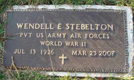 STEBELTON, WENDELL E. - Fairfield County, Ohio | WENDELL E. STEBELTON - Ohio Gravestone Photos