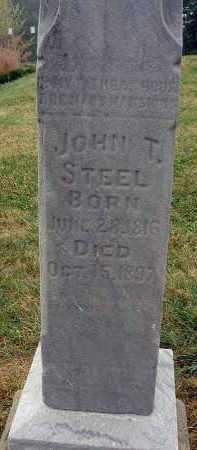 STEEL, JOHN T. - Fairfield County, Ohio | JOHN T. STEEL - Ohio Gravestone Photos