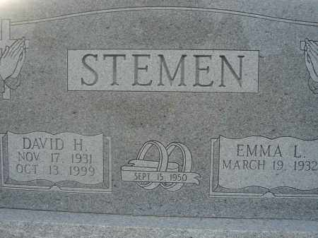 STEMEN, DAVID H. - Fairfield County, Ohio | DAVID H. STEMEN - Ohio Gravestone Photos