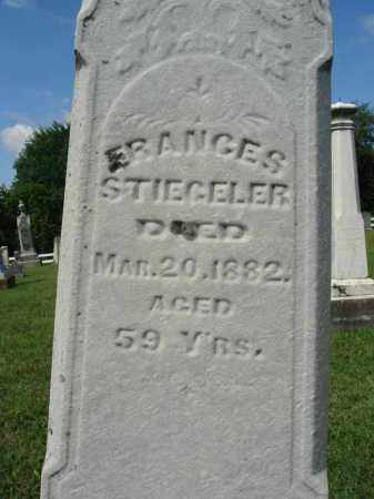 STIEGELER, FRANCES - Fairfield County, Ohio | FRANCES STIEGELER - Ohio Gravestone Photos