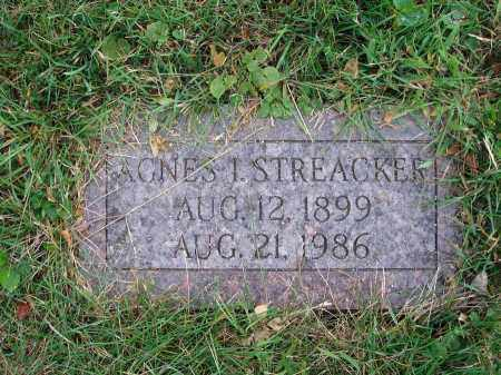 STREACKER, AGNES I. - Fairfield County, Ohio | AGNES I. STREACKER - Ohio Gravestone Photos