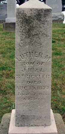 STRICKLER, LUTHER M. - Fairfield County, Ohio | LUTHER M. STRICKLER - Ohio Gravestone Photos