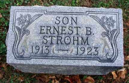STROHM, ERNEST B. - Fairfield County, Ohio | ERNEST B. STROHM - Ohio Gravestone Photos