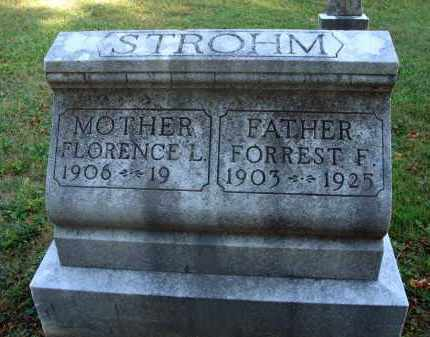 STROHM, FORREST F. - Fairfield County, Ohio | FORREST F. STROHM - Ohio Gravestone Photos