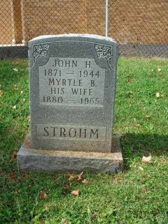 STROHM, MYRTLE B. - Fairfield County, Ohio | MYRTLE B. STROHM - Ohio Gravestone Photos