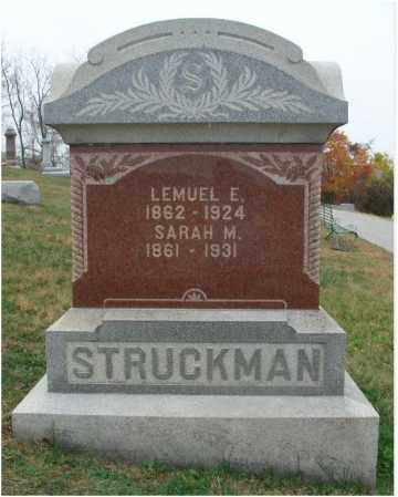 STRUCKMAN, SARAH M. - Fairfield County, Ohio | SARAH M. STRUCKMAN - Ohio Gravestone Photos