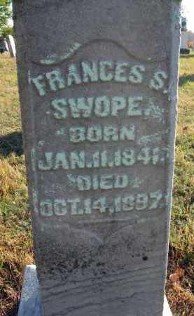 SHEAR SWOPE, FRANCES S. - Fairfield County, Ohio | FRANCES S. SHEAR SWOPE - Ohio Gravestone Photos