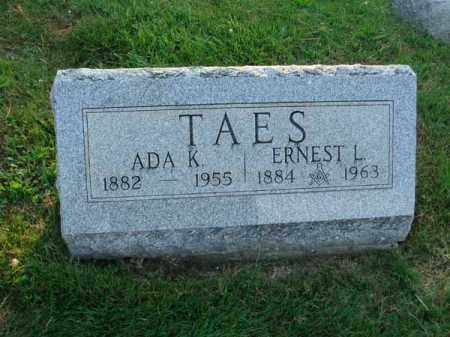 TAES, ADA K. - Fairfield County, Ohio | ADA K. TAES - Ohio Gravestone Photos