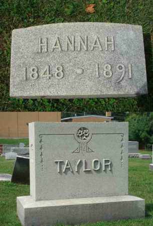 TAYLOR, HANNAH - Fairfield County, Ohio | HANNAH TAYLOR - Ohio Gravestone Photos