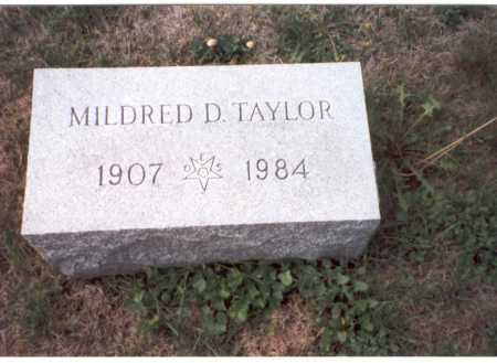 TAYLOR, MILDRED D. - Fairfield County, Ohio | MILDRED D. TAYLOR - Ohio Gravestone Photos