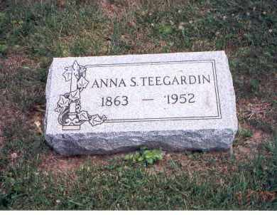 TEEGARDIN, ANNA S. - Fairfield County, Ohio | ANNA S. TEEGARDIN - Ohio Gravestone Photos