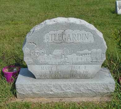 TEEGARDIN, MARY L - Fairfield County, Ohio | MARY L TEEGARDIN - Ohio Gravestone Photos
