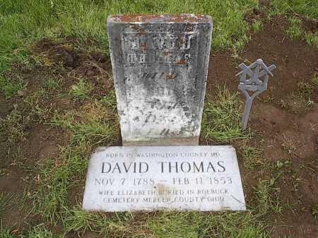THOMAS, DAVID - Fairfield County, Ohio | DAVID THOMAS - Ohio Gravestone Photos