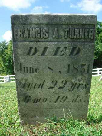 TURNER, FRANCIS A. - Fairfield County, Ohio | FRANCIS A. TURNER - Ohio Gravestone Photos