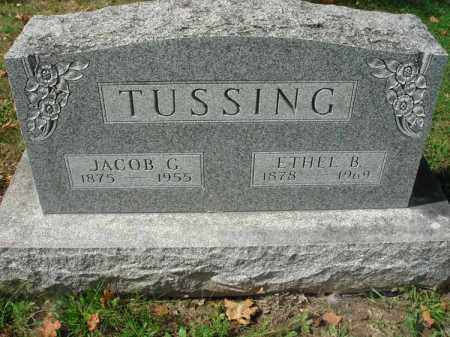 TUSSING, JACOB G. - Fairfield County, Ohio | JACOB G. TUSSING - Ohio Gravestone Photos