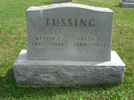 TUSSING, ELZA T. - Fairfield County, Ohio | ELZA T. TUSSING - Ohio Gravestone Photos
