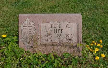 UPP, LEEFE C. - Fairfield County, Ohio | LEEFE C. UPP - Ohio Gravestone Photos