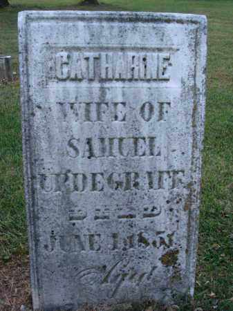 URDEGRAFF, CATHARINE - Fairfield County, Ohio | CATHARINE URDEGRAFF - Ohio Gravestone Photos