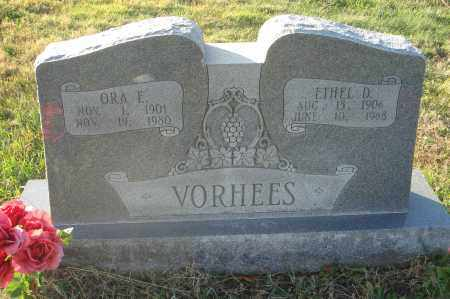 VORHEES, ORA E. - Fairfield County, Ohio | ORA E. VORHEES - Ohio Gravestone Photos