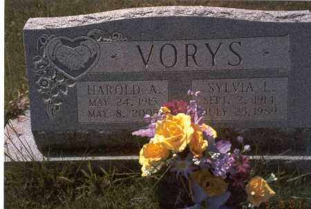 VORYS, HAROLD A. - Fairfield County, Ohio | HAROLD A. VORYS - Ohio Gravestone Photos