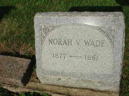 WADE, NORAH V. - Fairfield County, Ohio | NORAH V. WADE - Ohio Gravestone Photos