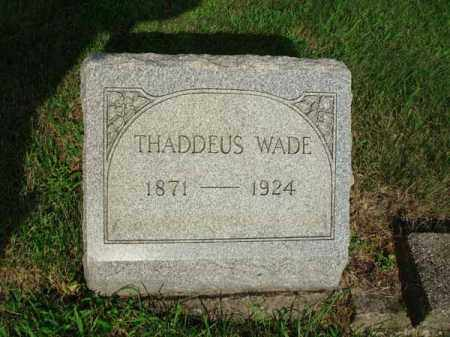 WADE, THADDEUS - Fairfield County, Ohio | THADDEUS WADE - Ohio Gravestone Photos