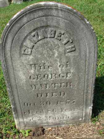 WALTER, ELIZABETH - Fairfield County, Ohio | ELIZABETH WALTER - Ohio Gravestone Photos