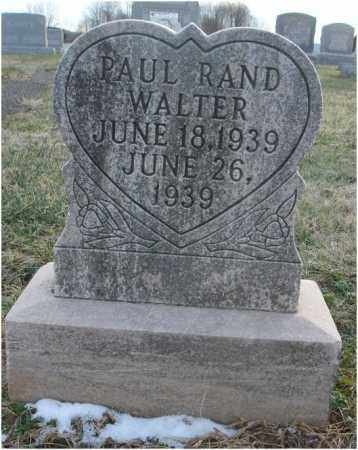 WALTER, PAUL RAND - Fairfield County, Ohio | PAUL RAND WALTER - Ohio Gravestone Photos
