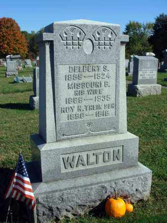 WALTON, MISSOURI B. - Fairfield County, Ohio | MISSOURI B. WALTON - Ohio Gravestone Photos