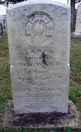 WARD, SARAH - Fairfield County, Ohio | SARAH WARD - Ohio Gravestone Photos