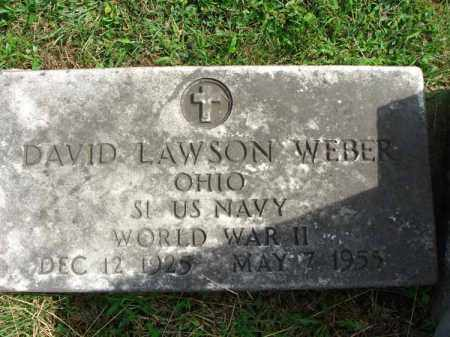 WEBER, DAVID LAWSON - Fairfield County, Ohio | DAVID LAWSON WEBER - Ohio Gravestone Photos
