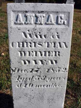 WEIMER, ANNA CATHARINE - Fairfield County, Ohio | ANNA CATHARINE WEIMER - Ohio Gravestone Photos