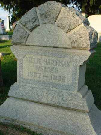 WEISER, TILLIE - Fairfield County, Ohio | TILLIE WEISER - Ohio Gravestone Photos