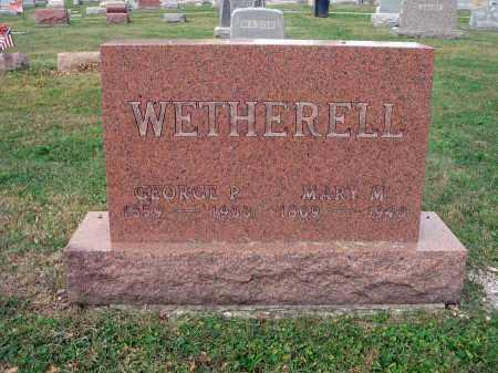 WETHERELL, MARY M. - Fairfield County, Ohio | MARY M. WETHERELL - Ohio Gravestone Photos